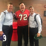 Pro Football Hall of Fame President David Baker, Matt, and Paul - Canton, Ohio