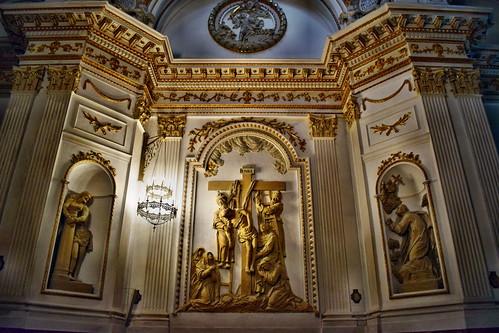 Relieve en la capilla de la Soledad en la colegiata (Alcañiz)