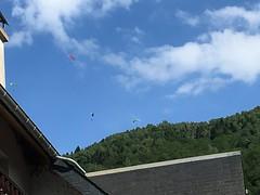 Parapente, Paragliding over Saint-Lary, France, mobile 2