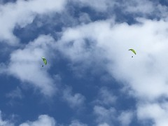 Parapente, Paragliding over Saint-Lary, France, mobile 1