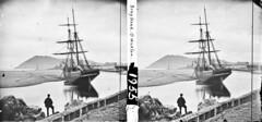 """The barque """"Thomas Ferguson"""" aground at Bray Head"""