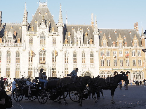 The provincial court in Bruges,  Belgium ;-) La Grand-Place de Bruges en Belgique ;-)