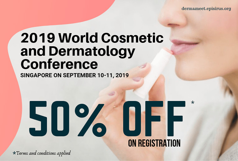 50%off in registration ,2019 World Cosmetic and Dermatology