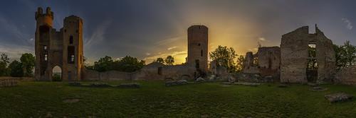 Bressieux castle at sunrise