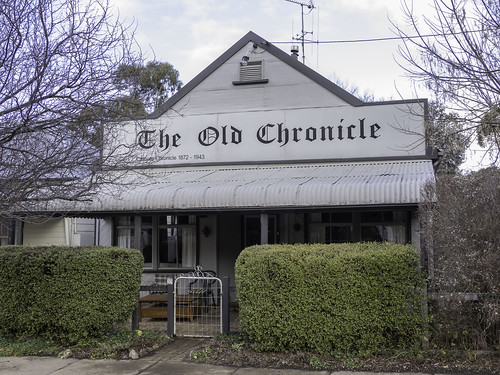 Old Chronicle building in Carcoar NSW - see below