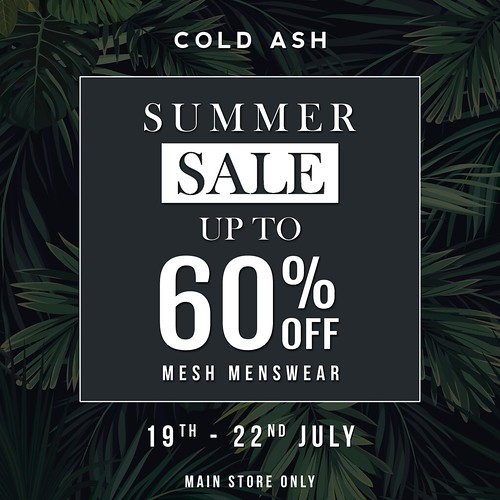 COLD ASH - SUMMER SALE NOW ON!