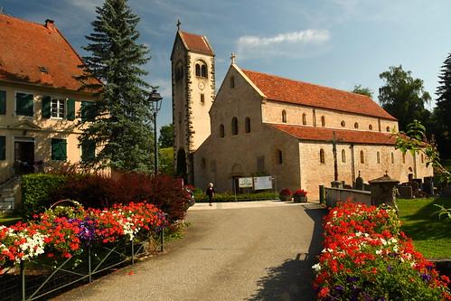 Feldbach : the roman church (XIIè century; Haut-Rhin, F)
