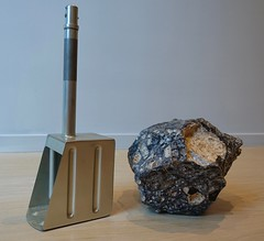The Moon Rock Scoop Used by Neil Armstrong and Buzz Aldrin training for Apollo 11