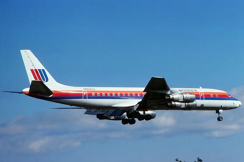 N8065U United DC-8-55 at KCLE