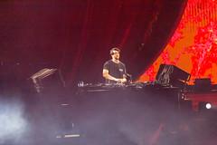 Yotto am Mischpult auf der Freedom Stage am Tomorrowland Festival 2019 in Boom, Belgien