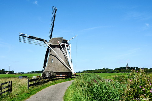 Niederlande / Provinz Friesland / Hantum / Hantumermolen / Baujahr: 1880