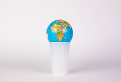 Globe on a plastic cup