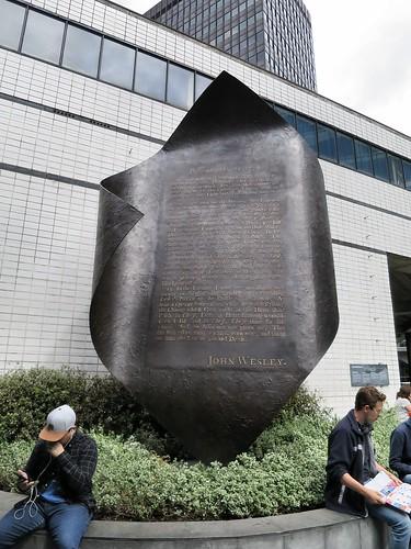 """Aldersgate Flame"". Sculpture marking John Wesley's conversion experience"