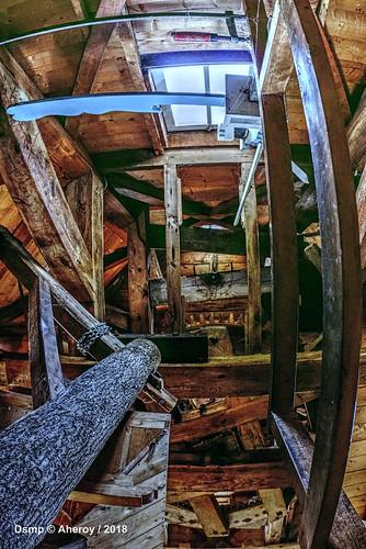 Inside the Windmill,de Meeuw,Garnwerd,Groningen,the Netherlands,Europe