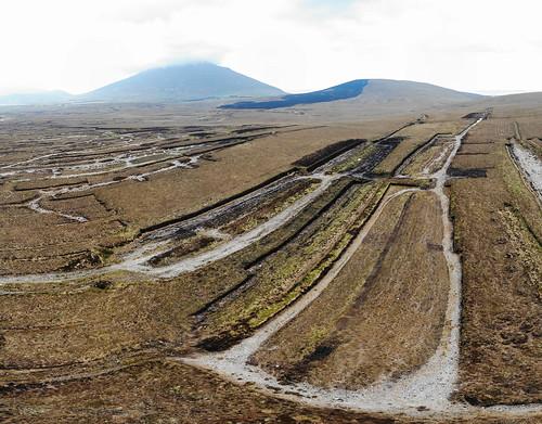 Peat field in Ireland