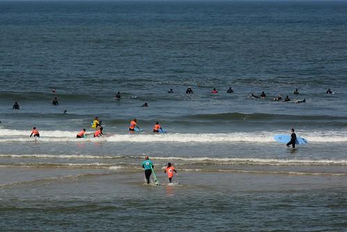 The surfers of Espinho beach