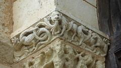 Ronsenac - church, column capital (2)