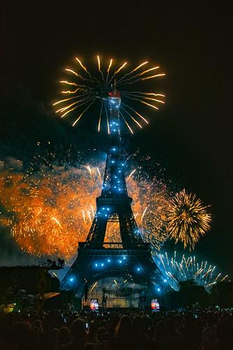 This is the Greatest Show...Vive La France  ! Feu d'artifice ,Tour Eiffel ; 14 juillet 2019, Fête nationale Paris. No. 532.
