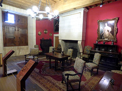 Bourdeilles - Chateau de Bourdeilles, renaissance palace small chamber