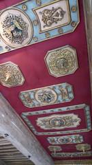 Bourdeilles - Chateau de Bourdeilles, renaissance palace bedchamber ceiling