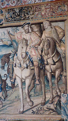 Bourdeilles - Chateau de Bourdeilles, renaissance palace chamber tapestry Francois I (2)