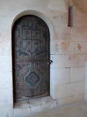 Bourdeilles - Chateau de Bourdeilles, renaissance palace doorway