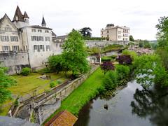 Bourdeilles - Chateau de Bourdeilles, terrace (2)