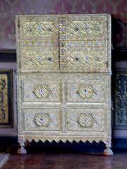 Bourdeilles - Chateau de Bourdeilles, renaissance palace bedchamber armoire