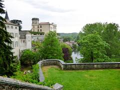 Bourdeilles - Chateau de Bourdeilles, terrace