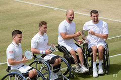 Men's wheelchair doubles finalists