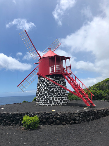 Typical red windmill of Pico