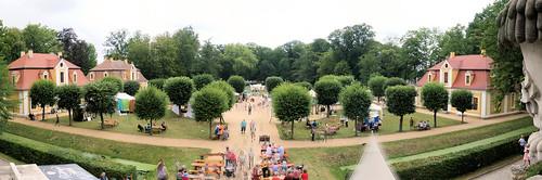 Panorama Schlosspark Neschwitz Juli 2019a