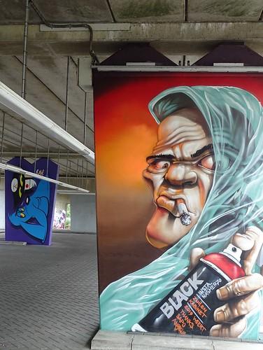 Het Zuilenkabinet Boshoverbrug Weert graffiti, artist Nash (NL)