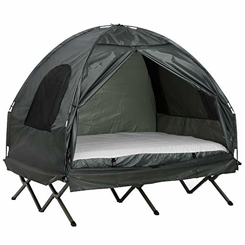 4937540bc914 Outsunny Compact Pop Up Portable Folding Outdoor Elevated Camping ...