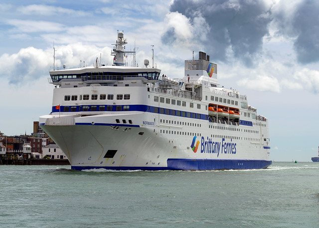 MV Normandie, Brittany Ferries, Portsmouth Harbour, Portsmouth, Hampshire, UK