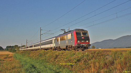 BB 26015 Train ICN 4382 Nice-Strasbourg à Raedersheim