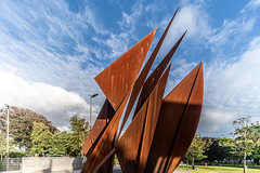 THE QUINCENTENNIAL SAILS SCULPTURE AT EYRE SQUARE IN GALWAY [ARTIST - EAMONN O'DOHERTY]-154323