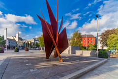 THE QUINCENTENNIAL SAILS SCULPTURE AT EYRE SQUARE IN GALWAY [ARTIST - EAMONN O'DOHERTY]-154325
