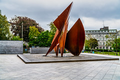 QUINCENTENNIAL SAILS SCULPTURE AT EYRE SQUARE IN GALWAY [ARTIST - EAMONN O'DOHERTY]-154326
