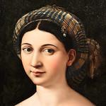 Raffaello Sanzio (Urbino 1483 – Roma 1520)  La Fornarina (1520 circa) olio su tavola cm 87 x 63 - Museo Nazionale Romano Palazzo Barberini - Roma - https://www.flickr.com/people/94185526@N04/