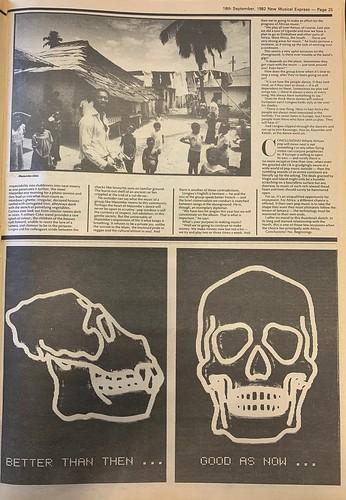 NME, 18 September 1982. #NME  #MyLifeInTheUKMusicPress #1982