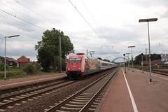 Image by vos.nathan (137342563@N03) and image name 101 064 door Salzbergen photo  about 101 064 met de 148 naar Amsterdam door Salzbergen. Een dik half uur later kwam ze met de 145 weer terug.