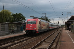 Image by vos.nathan (137342563@N03) and image name DB 101 064 te Salzbergen photo  about DB 101 064 met de 145 (IC Berlijn vanuit Amsterdam naar Berlijn) te Salzbergen.