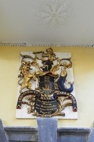 escudo heraldico interior Iglesia Catedral de Cristo o de la Santisima Trinidad Waterford Republica de Irlanda 01