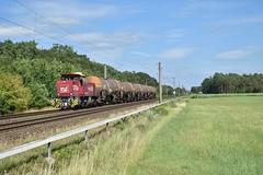 Image by Tijmen Holstein (tijmenholstein) and image name 21-07-19 | Rheine (D) | BE D24+ketels photo  about Het is 15:03 als Bentheimer Eisenbahn D24 met een beladen Olietrein door Rheine komt, op weg als trein 69492 naar Holthausen.   Datum: 23-07-19 Plaats: Rheine (D) Van/naar: Osnabrück Hbf Vorbahnhof -> Holthausen  Vervoerder: Bentheimer Eisenbahn  Loc: D24 Trein: Keteltrein   Treinnumer: 69492  Na