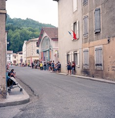 FR19 Le Tour de France, stage 15. Bélesta, Ariège (Rolleiflex 3,5 Ektar100) 04 - Photo of L'Aiguillon