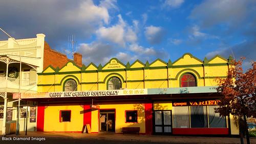Durnings Buildings Built 1911, now Happy Inn Chinese Restaurant, Grenfell, NSW