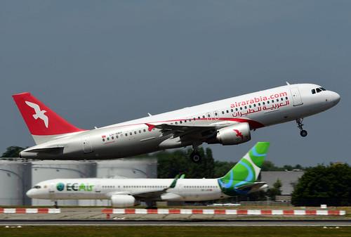 CN-NMH A320-214 cn 5143 Air Arabia Maroc 180627 Brussel-Zaventem 1001