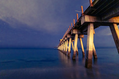 Image by Mi Bob (springlake) and image name Venice Pier at Night photo  about Trying out my Rokinon 14 mm lens.