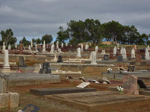 Photo:Strathalbyn. A panorama of the cemetery.  This old section of the town cemetery contains the graves and headstones of many early Scottish settlers including the Rankine McLean and other families. By denisbin